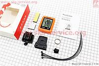 Вело-компьютер 15 функций дисплей с сенсорными кнопками управления  беспроводной  влагозащитный