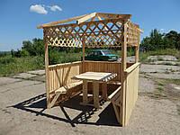 """Беседка """"Семейная"""" 2х2м. + Стол. Деревянная, садовая, для дачи, фото, цена, купить"""
