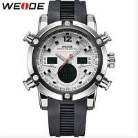 Спортивные мужские кварцевые наручные часы Weide Sport White