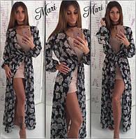 Красивое платье с шифоновой накидкой в расцветках 464 (м141)