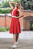 Женское летнее приталенное платье до колен