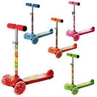 Самокат детский трехколесный со светящимися колесами iTrike MINI BB 3-024