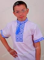Вышитая рубашка для мальчика с коротким рукавом Федя