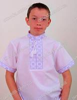 Вышитая сорочка для мальчика с коротким рукавом Федя
