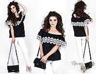 Свободная блузка с большим отворотом