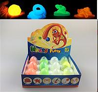 Жвачка для рук Handgum светящийся Большой набор 120 гр. (в яйцах 8 шт.)