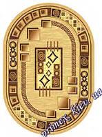 """Синтетический овальный ковер эконом-сегмента Gold Karat """"Офис"""", цвет бежевый"""