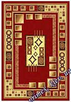 """Синтетический прямоугольный ковер эконом-сегмента Gold Karat """"Офис"""", цвет красный"""
