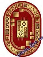 """Синтетический овальный ковер эконом-сегмента Gold Karat """"Офис"""", цвет красный"""