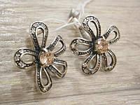 Серьги из серебра цветочек