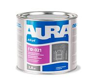 Грунт алкидный AURA ГФ-021 антикоррозионный, серый, 2,8кг