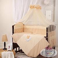 Набор в детскую кроватку Маленькая Соня шоколадный (7 предметов)