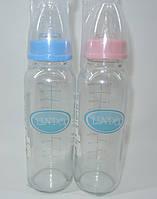 Стеклянная бутылочка для новорожденных