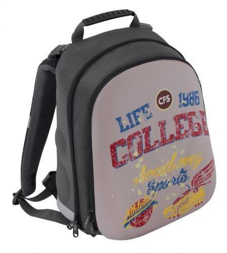 """Удобный школьный рюкзак, ортопед 20 л, серый CFS EVA фасад 15"""", """"College"""" 730 CF85442"""