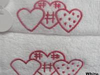 Набор полотенец 40х60+50х100 - 2шт. Arya   Tree Hearts белый