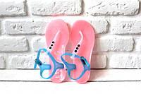 Женские босоножки силикон через палец (Pink)