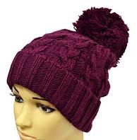 Женская шапка рисунок из широких кос