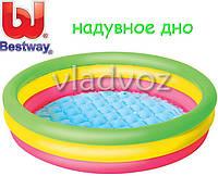 Детский надувной бассейн надувное дно Bestway 51104 102-25см 110л.