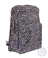 Рюкзак школьный / городской - синий - 7222