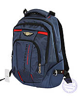 Универсальный прочный рюкзак для школы и прогулок - синий - Y-1