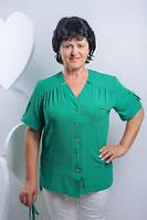 Женская блузка зеленого цвета