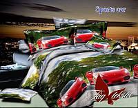 Комплект постельного белья, Sports car, детский подростковый  для мальчика, простынь 160x220