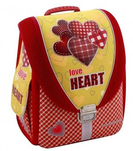 """Школьный красивый рюкзак-трансформер 6+ для девочки, красный CFS 14"""", """"Love Heart"""" 710 CF85602"""
