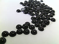 Полубусины жемчуг 5 мм черный