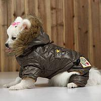 """Комбинезон для собак """"Армия"""", 2 в 1 (куртка+брючки) красный"""