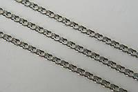 Цепочка серебро 925 пробы - плетение Плоский Бисмарк
