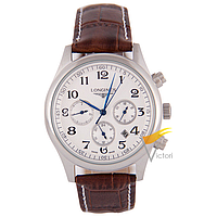Мужские механические часы Longines Master Collection White (Лонжин)