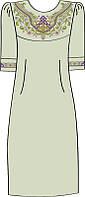 822-14/08 Платье женское, льняное, размер 40