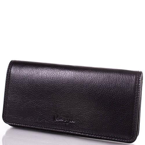 Женский стильный кожаный кошелек KARYA (КАРИЯ) SHI0939-2FL Черный