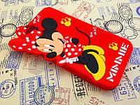 Резиновый 3D чехол для iPhone 6 (4,7 дюйма) Minnie красный