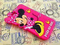 Резиновый 3D чехол для iPhone 6 (4,7 дюйма) Minnie розовый
