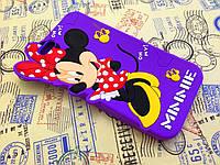 Резиновый 3D чехол для iPhone 6 (4,7 дюйма) Minnie фиолетовый