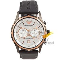Мужские кварцевые часы Emporio Armani AR0584 Black White (Армани)