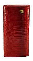 Кожаный красный лаковый женский кошелек H.VERDE art.2551-44 red