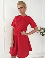 Женское платье из хлопка с короткими рукавами