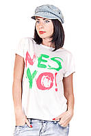 Футболка лодочка фаина nes yo (белый), футболки оптом, женская футболка недорого, дропшиппинг  украина