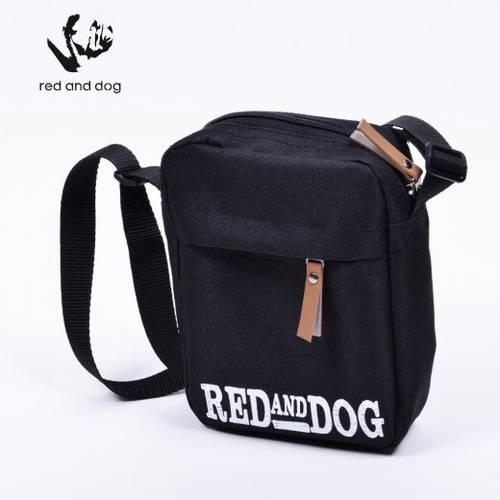 Сумка молодёжная на плечо Red and Dog Tomen - Black Logo черный ВхШхГ: 20х16х6 см. 04562-1