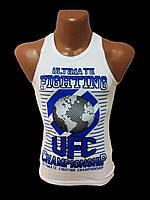Борцовка-майка мужская белая UFC (Турция)