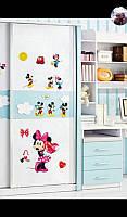 Интерьерные виниловые наклейки для детской комнаты микки
