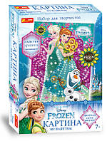 """4748-14 Картинка из пайеток Frozen """"Анна и Эльза Лето"""""""
