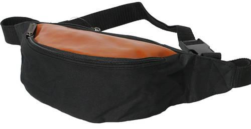 Поясная сумка Loren WB-05A черный с коричневым