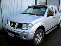 Козырек на лобовое стекло Nissan Navara акрил, на крепл, (прозрачний)