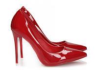 Женские красные лодочки на каблуке