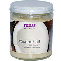 Кокосовое масло натуральное Now Foods 100% Natural Coconut Oil