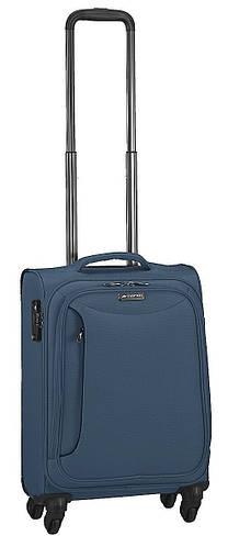 Синий малый 4-колесный чемодан из полиэстера 38 л. March Delta 2783/54