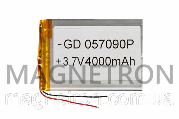 Аккумулятор литий-полимерный GD 057090P 3,7V 4000 mAh 68x96mm, фото 2
